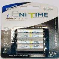 AAA 800mAh Rechargeable Batteries 4 Pack GS Yuasa  Eni Time Buy Online from The Battery Shop